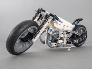 2nd Stormtrooper Custom motorcycle using parts from 42036 Street Motorcycle LEGO Technic 42045 Hydroplane Racer and LEGO Technic 42047 Police Interceptor