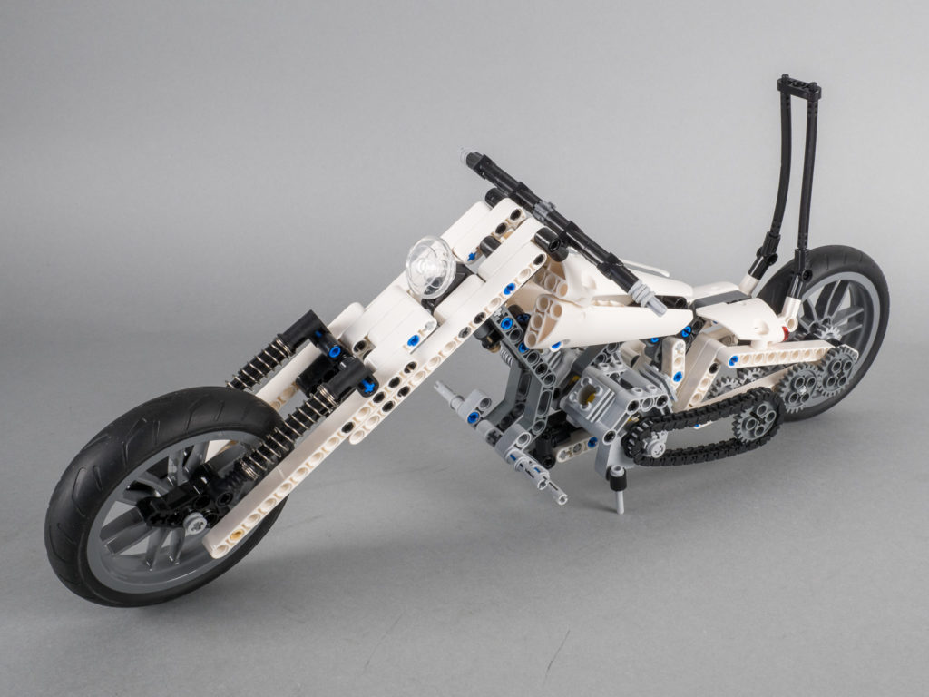 1st Stormtrooper Custom motorcycle using parts from LEGO Technic 42036 Street Motorcycle and LEGO Technic 42039 24 Hours Race Car