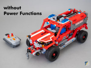 LEGO Technic 42075 First Responder RC mod without Power Functions upgrade pack