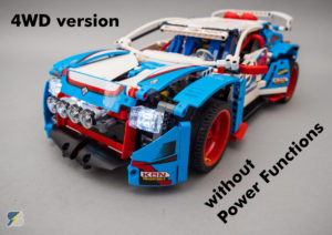 LEGO Technic 42077 Rally Car 4WD RC mod without Power Functions upgrade pack