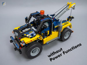 LEGO Technic 42079 Tow Truck B model RC mod without Power Functions upgrade pack