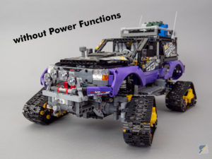LEGO Technic 42069 Extreme Adventure RC mod without Power Functions upgrade pack