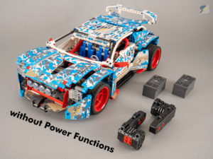 LEGO Technic 42077 Rally Car buggy motor RC mod without Power Functions upgrade pack