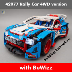 LEGO Technic 42077 Rally Car 4WD RC mod building instructions