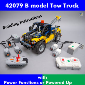 LEGO Technic 42079 Tow Truck B model RC mod building instructions