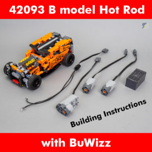 LEGO Technic 42093 Hot Rod BuWizz RC mod building instructions