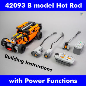 LEGO Technic 42093 Hot Rod Power Functions RC mod building instructions