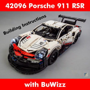LEGO Technic 42096 Porsche 911 RSR BuWizz RC mod building instructions