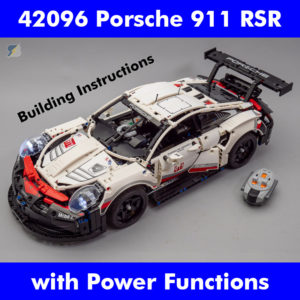 LEGO Technic 42096 Porsche 911 RSR Power Functions RC mod building instructions