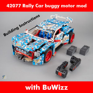 LEGO Technic 42077 Rally Car buggy motor RC mod building instructions