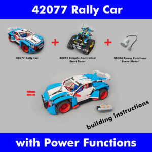 LEGO Technic 42077 Rally Car 42095 Servo RC mod building instructions