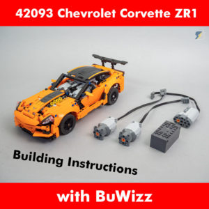 LEGO Technic 42093 Chevrolet Corvette ZR1 BuWizz RC mod building