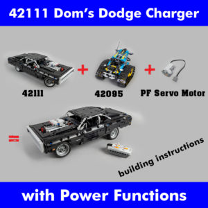 LEGO Technic 42111 Dom's Dodge Charger 42095 Servo RC mod building instructions